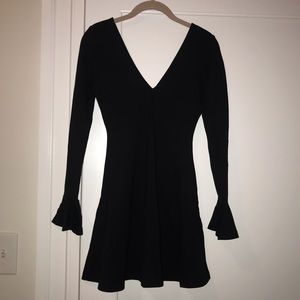 Nasty Gal black skater dress